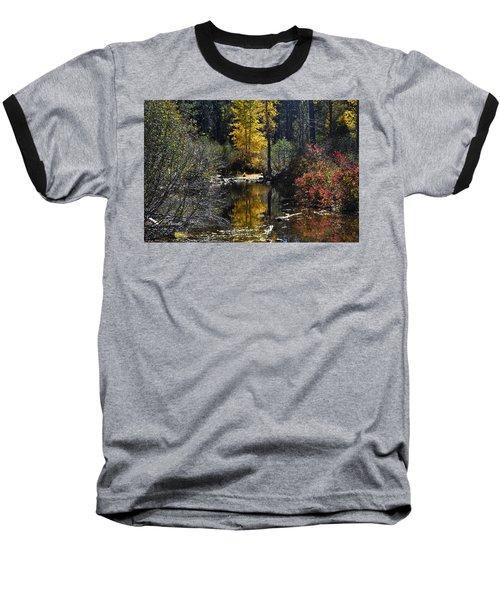 Upper Truckee River Autumn Baseball T-Shirt
