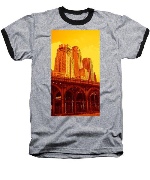 Upper West Side And Hudson River Manhattan Baseball T-Shirt