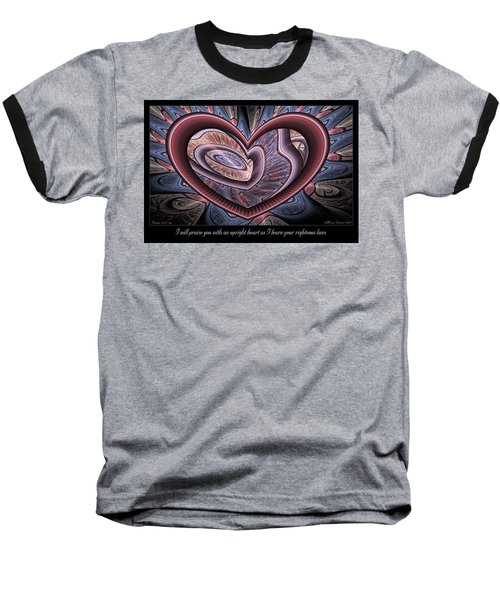 Upright Heart Baseball T-Shirt