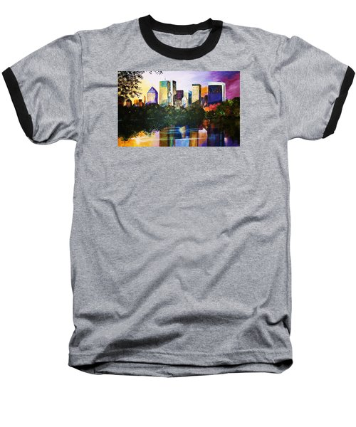 Baseball T-Shirt featuring the painting Urban Reflections by Al Brown