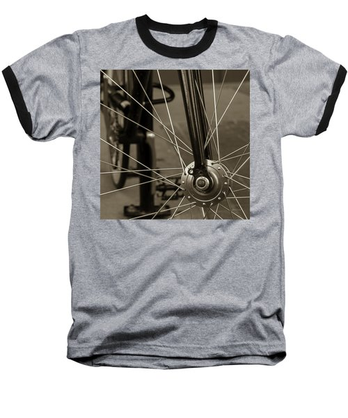 Urban Spokes In Sepia Baseball T-Shirt
