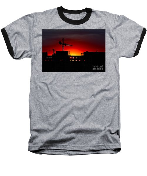 Baseball T-Shirt featuring the photograph Urban Sunrise by Linda Bianic