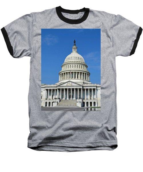 Us Capitol Building Baseball T-Shirt