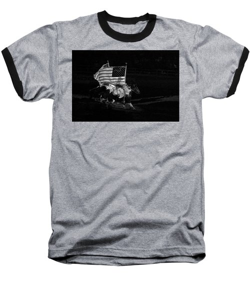 Baseball T-Shirt featuring the photograph U.s. Flag Western by Ron White