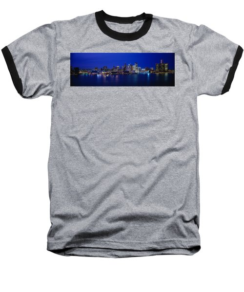 Usa, Michigan, Detroit, Night Baseball T-Shirt