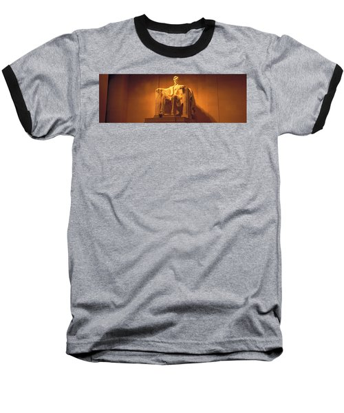 Usa, Washington Dc, Lincoln Memorial Baseball T-Shirt by Panoramic Images