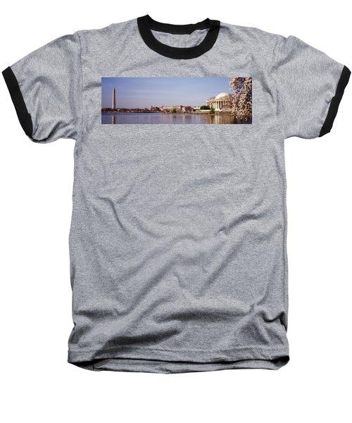 Usa, Washington Dc, Washington Monument Baseball T-Shirt by Panoramic Images