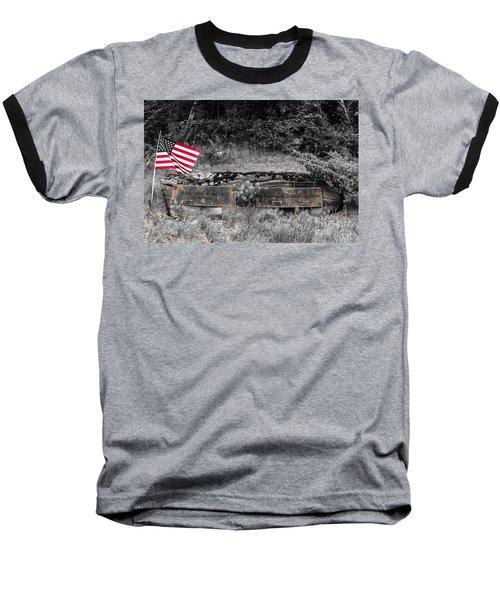 Baseball T-Shirt featuring the photograph Usmc Veteran Headstone by Sherman Perry
