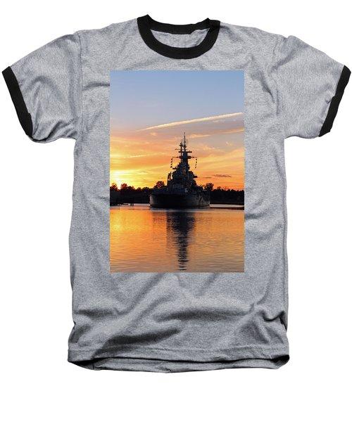 Baseball T-Shirt featuring the photograph Uss Battleship by Cynthia Guinn