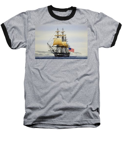Uss Constitution Baseball T-Shirt by James Williamson