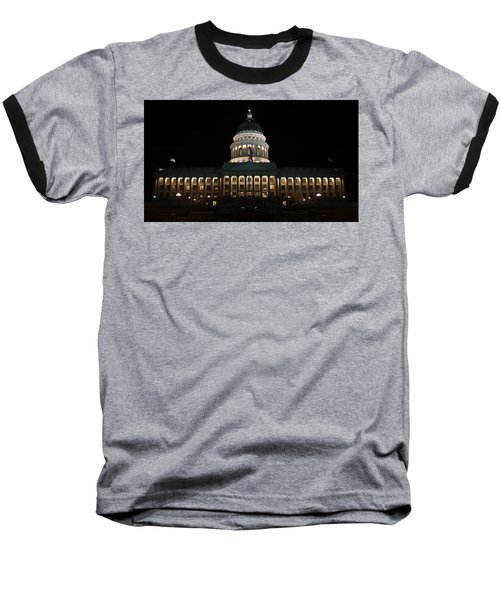 Baseball T-Shirt featuring the photograph Utah State Capitol Front by David Andersen