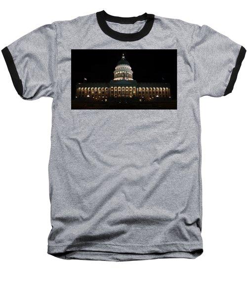 Utah State Capitol Front Baseball T-Shirt