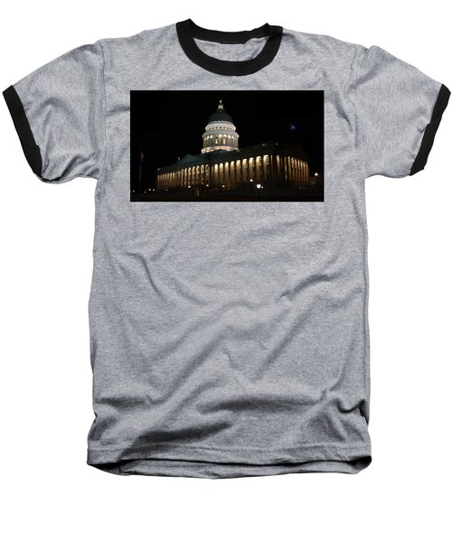 Baseball T-Shirt featuring the photograph Utah State Capitol East by David Andersen