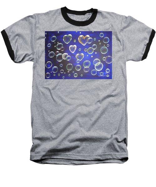 Valentine Bubbles Baseball T-Shirt