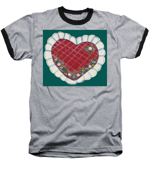 Valentine Heart Baseball T-Shirt