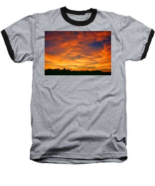 Baseball T-Shirt featuring the photograph Valentine Sunset by Tammy Espino