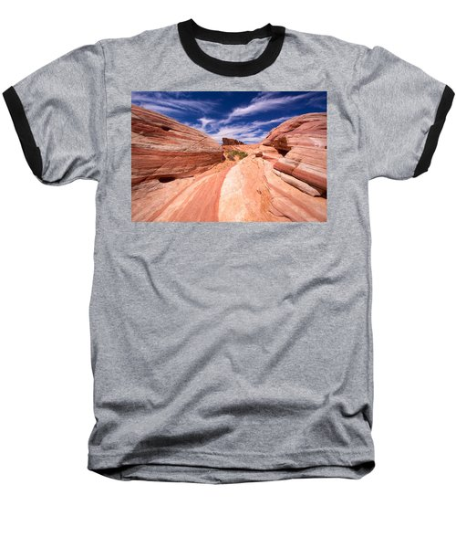 Valley Of Fire 2 Baseball T-Shirt by David Beebe