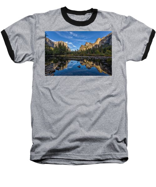 Valley View I Baseball T-Shirt by Peter Tellone
