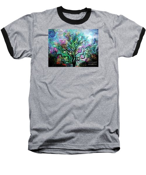Van Gogh's Aurora Borealis Baseball T-Shirt