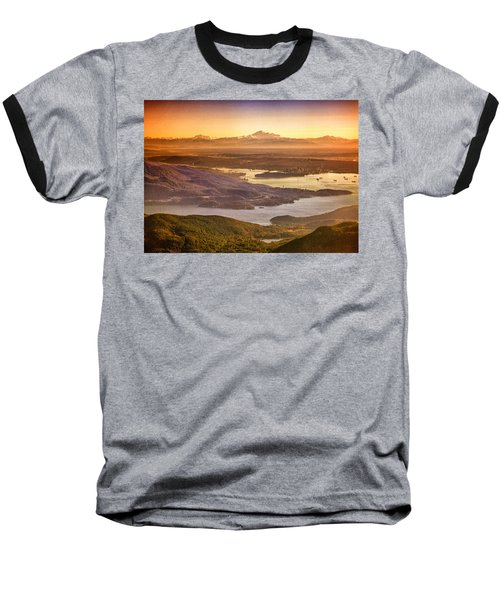 Vancouver And Mt Baker Aerial View Baseball T-Shirt by Eti Reid