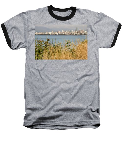 Baseball T-Shirt featuring the photograph Vancouver Bc Downtown From Hasting Mills Park by JPLDesigns