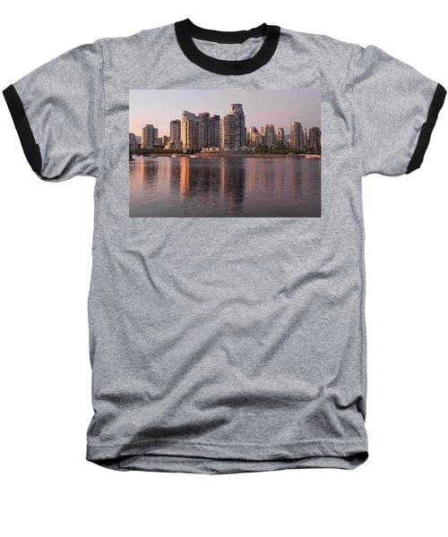 Baseball T-Shirt featuring the photograph Vancouver Bc Waterfront Condominiums by JPLDesigns