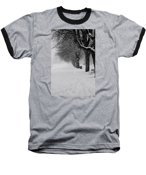 Vancouver Winter Trees Baseball T-Shirt