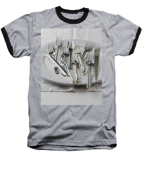 Various Forks On A Plate Baseball T-Shirt