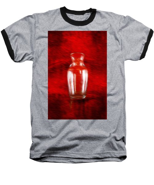 Baseball T-Shirt featuring the photograph Vase En Rouge by Aaron Berg