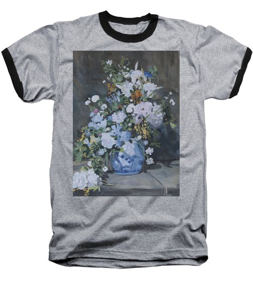 Vase Of Flowers - Reproduction Baseball T-Shirt