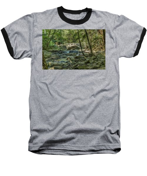 Baseball T-Shirt featuring the photograph Vaughan Woods Bridge by Jane Luxton
