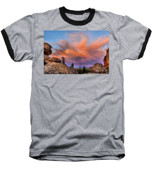 Vedauwoo Sunrise Baseball T-Shirt by Steven Reed