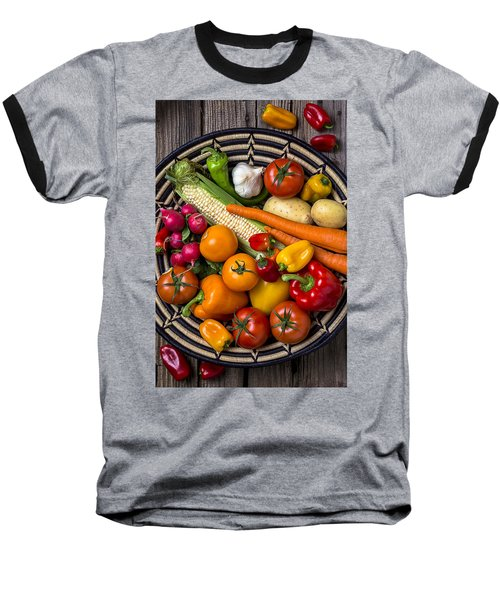 Vegetable Basket    Baseball T-Shirt by Garry Gay
