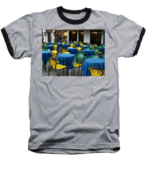 Baseball T-Shirt featuring the photograph Venetian Cafe by Robin Maria Pedrero