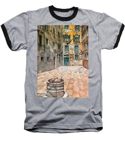 Venetian Courtyard 02 Elena Yakubovich Baseball T-Shirt