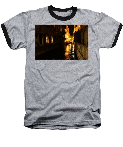 Baseball T-Shirt featuring the photograph Venetian Golden Glow by Georgia Mizuleva