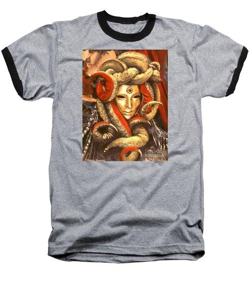 Venetian Mystery Mask Baseball T-Shirt
