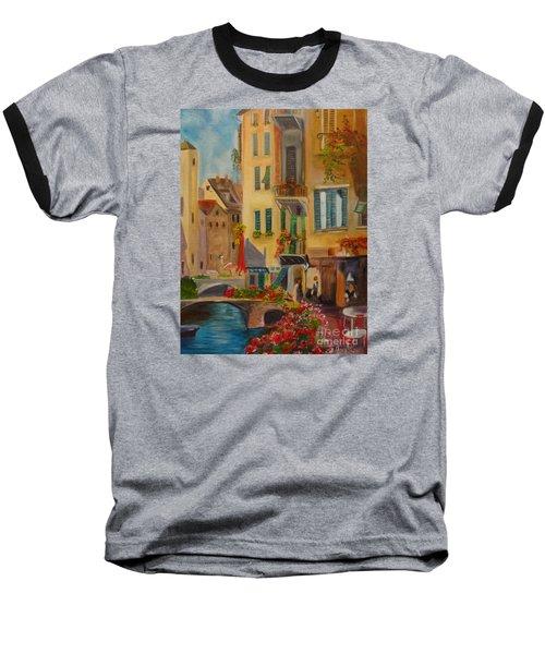 Venic Canal 1 Baseball T-Shirt by Jenny Lee