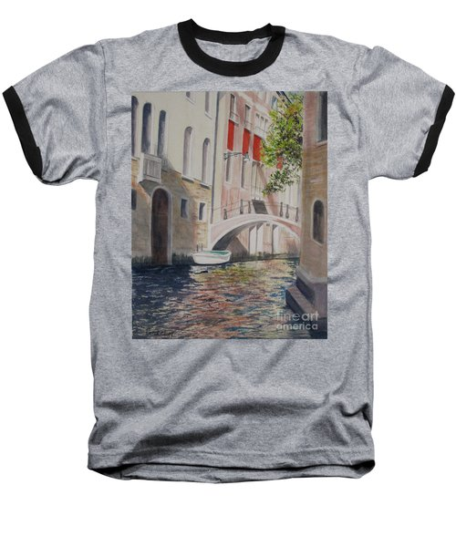Baseball T-Shirt featuring the painting Venice 2000 by Carol Flagg
