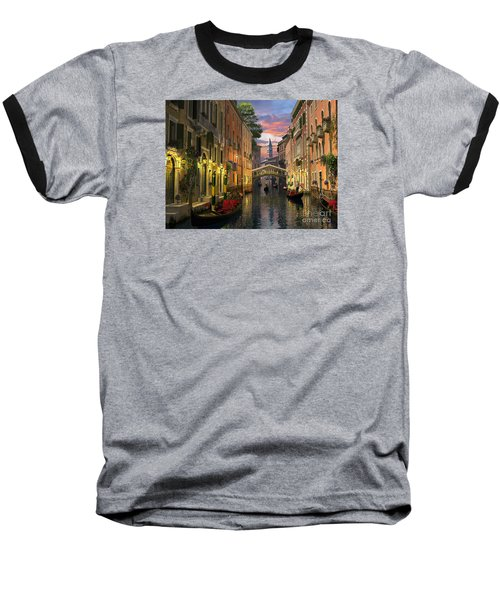 Venice At Dusk Baseball T-Shirt