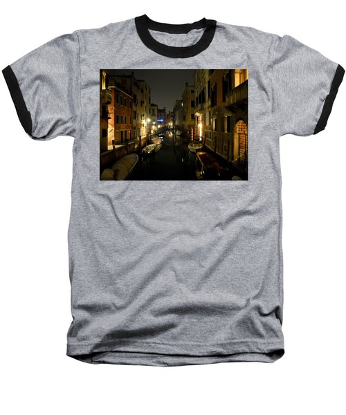 Baseball T-Shirt featuring the photograph Venice At Night by Silvia Bruno