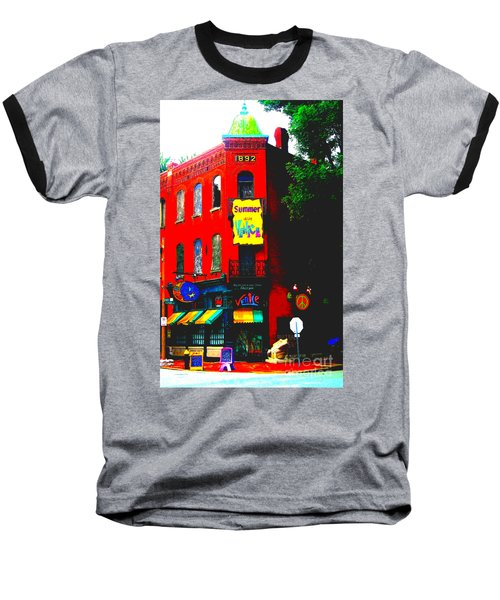 Venice Cafe' Painted And Edited Baseball T-Shirt