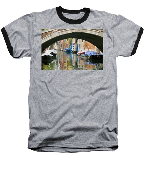 Baseball T-Shirt featuring the photograph Venice Canal Boat by Silvia Bruno