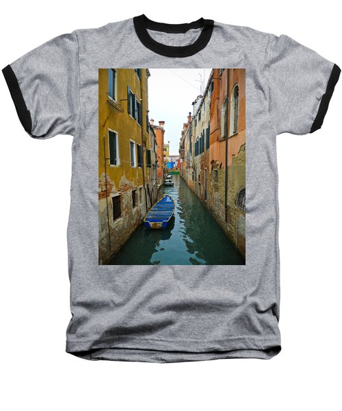 Baseball T-Shirt featuring the photograph Venice Canal by Silvia Bruno
