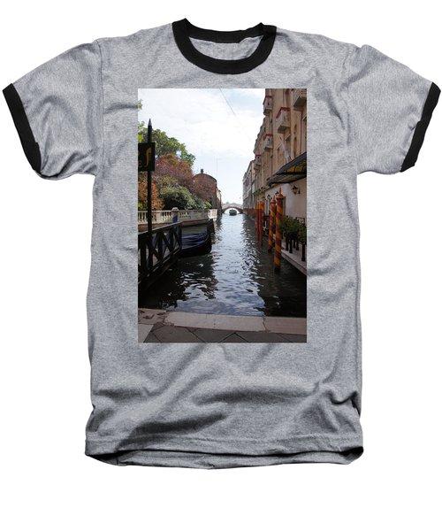 Venice Dock Baseball T-Shirt by Debi Demetrion