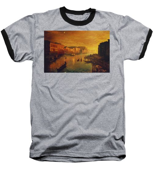 Venice From The Rialto Bridge Baseball T-Shirt by Blue Sky