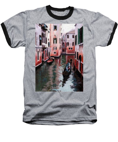 Baseball T-Shirt featuring the painting Venice Gondola Ride by Janet King