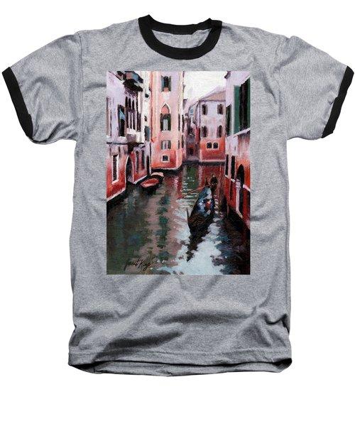 Venice Gondola Ride Baseball T-Shirt