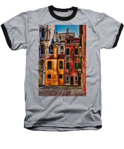 Baseball T-Shirt featuring the photograph Venice Homes by Jerry Fornarotto