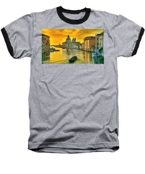 Golden Venice 3 Hdr - Italy Baseball T-Shirt by Maciek Froncisz